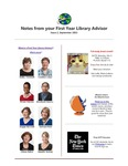 FYLA Newsletter, Issue 2, September 2015 by Oberlin College Libraries