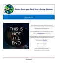 FYLA Newsletter, Issue 8, May 2016 by Oberlin College Libraries